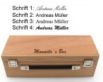 OBUT K3 Strip, Boules Set, riffle 1 in wooden box with engraving, idea for Present Image 2