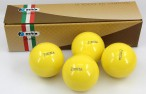 Perfetta EURA GIALLO Competition Boccia bowles (Set of 4)