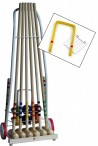 CROQUET - cart for 6 players, Quality made in Italy