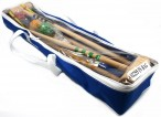 CROQUET - Standard for 4 players in blue carry bag, Quality made in Italy Image 2