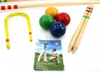 CROQUET - Standard for 4 players in blue carry bag, Quality made in Italy Image 4