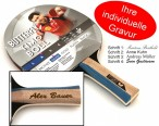 Timo Boll Silver - Edition, Table-Tennis-Bat Butterfly with engravement