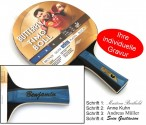 Timo Boll Gold - Edition, Table-Tennis-Bat Butterfly with engravement