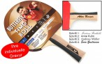 Timo Boll Bronze - Edition, Table-Tennis-Bat Butterfly with engravement