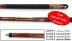 Tycoon, engraved Pool - billiard cue with engraving, idea for gift, brown colour