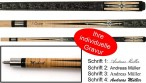 J. Cooper Pool Billiard Cue trendy Cue made from maple incl. Engravement