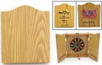 Beautiful Mini-Dart Game in wooden Case with individual 4c-Digitalprint