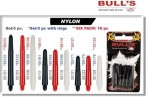 Bull's Nylon Dart Shafts, 18-piece Bigpack