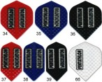 Pentathlon Embossed Dart Flights mit Prägung, 3er Set