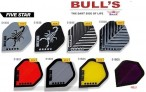 Bull's Flight Five Star, Standard Dart Flights, 3-piece Set