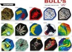 Bull's Flight Diamond, Standard Dart Flights, 3-piece Set