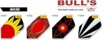 Bull's Flight Base, Standard Dart Flights, 3-piece Set