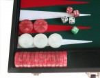 leatherette backgammon case large - green field Image 3