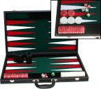 leatherette backgammon case large - green field Image 1