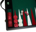 leatherette backgammon case medium - green field Image 4