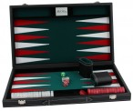 leatherette backgammon case medium - green field, incl. Engravement Image 3
