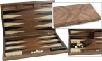 Dal Negro Oxford, large Backgammon made from walnut  with maple inlays