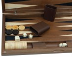Dal Negro Oxford, large Backgammon made from walnut  with maple inlays Image 3