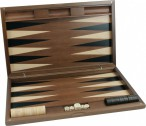 Dal Negro Oxford, large Backgammon made from walnut  with maple inlays Image 5