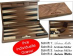 Dal Negro Oxford, large wooden Backgammon, incl. Engraving