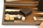Dal Negro Nuovo Noce, Backgammon made from walnut  with maple inlays, incl. Engraving Image 3