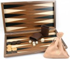 Dal Negro Nuovo Noce, Backgammon made from walnut  with maple inlays, incl. Engraving Image 5