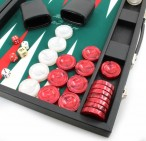 Backgammon COMPETITION GREEN, Hector Saxe, Paris Bild 3