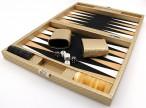 Backgammon Cosmos Gold Medium, Alcantara Mikrofaserstoff, Hector Saxe, Paris Bild 3