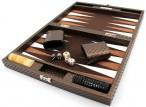 Backgammon Cosmos Brown Medium, Alcantara Mikrofaserstoff, Hector Saxe, Paris Bild 3