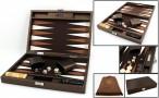 Backgammon Cosmos Brown Medium, Alcantara Mikrofaserstoff, Hector Saxe, Paris
