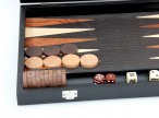 Backgammon Milos medium 1163, from Philos with inlaid work, black lacquered Image 3