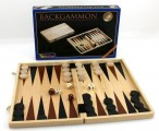 Backgammon-Cassette, wood, printed
