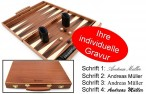 Engraved Precious wood backgammon case mahagany - Weible - idea for gift Image 1
