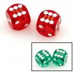 Präzisionswürfel, 5/8 Backgammon / Casino Würfel, 2 Stück mit Seriennummern