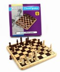 Nice Chess Game on massive wooden board with inlays including wooden figures Image 2