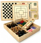 Wooden Multi Game Box