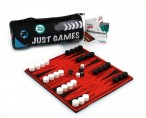 Just Games Backgammon - Innovatives Neoprenspiel im Federmäppchen für unterwegs