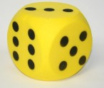 Giant foam dice, dice with 15 cm edge