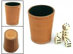 Ludomax Exclusiv dice cup, made in Germany, incl. Dice