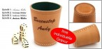Ludomax Exclusiv dice cup, made in Germany with dice, engraved, idea for gift