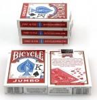 Fünferpaket Bicycle Spielkarten rot, Rider Back, 808 Poker, Jumbo Index