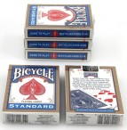 Fünferpaket Bicycle Spielkarten blau, Rider Back, 808 Poker, made in USA