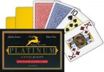 Modiano PLATINUM 100% ACETATE Jumbo Index Poker Box, double deck in plastic box