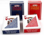 4 Decks Texas Poker Modiano, 100% Plastik Spielkarten 2 Pips Jumbo Index, Ludomax Paket