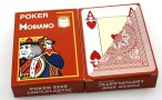 2 pieces of POKER by MODIANO, 100% plastic, 4 Jumbo Index, brown coloured