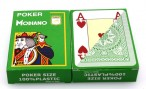 2 pieces of POKER by MODIANO, 100% plastic, 4 Jumbo Index, lightgreen coloured