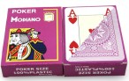 2 pieces of POKER by MODIANO, 100% plastic, 4 Jumbo Index, violet coloured