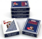 5 pieces of Texas Poker Hold´em blue coloured by Modiano Italy, 100 % plastic