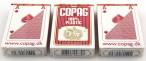 Dreierpaket Copag 100% Plastic Bridge Spielkarten rot