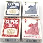 Viererpaket Copag 100% Plastic Bridge Spielkarten rot und blau